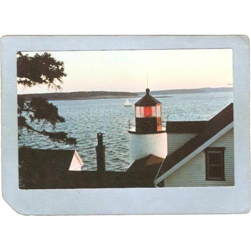ME Mt Desert Island Lighthouse Postcard Bass Harbor Head Light lighthouse_~355