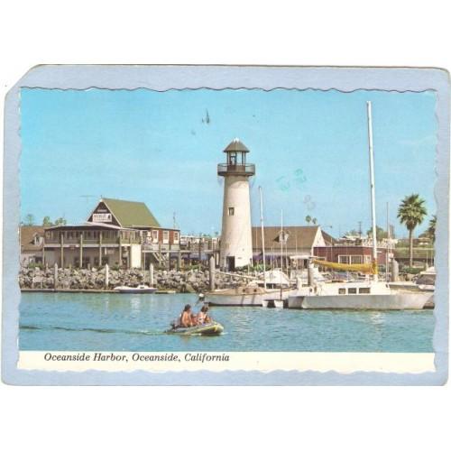 CA Oceanside Lighthouse Postcard Oceanside Harbor Lighthouse lighthouse_bo~36