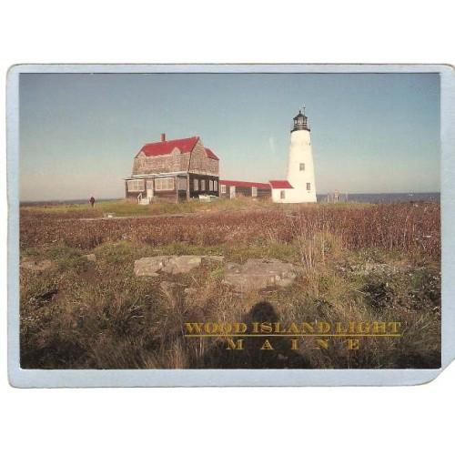ME Wood Island Lighthouse Postcard Wood Island Light lighthouse_box1~393