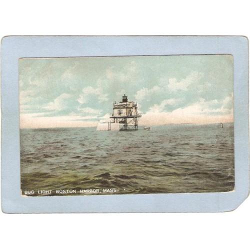 MA Boston Harbor Lighthouse Postcard Bug Light lighthouse_box1~427
