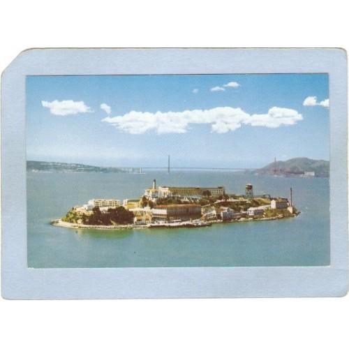 CA San Francisco Lighthouse Postcard Alcatraz Island w/lighthouse lighthou~45