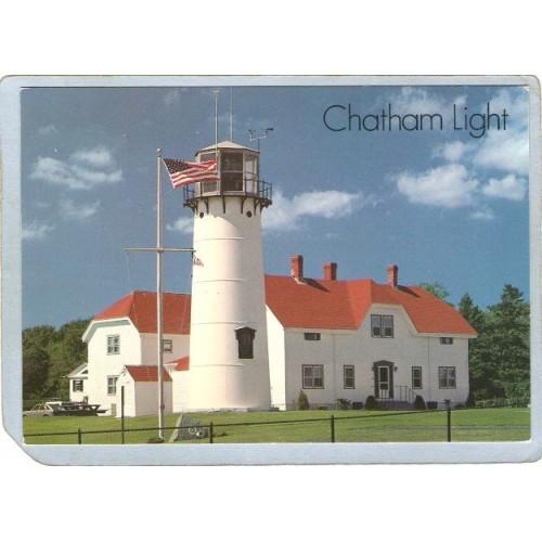 MA Chatham Lighthouse Postcard Chatham Light Cape Cod lighthouse_box1~490