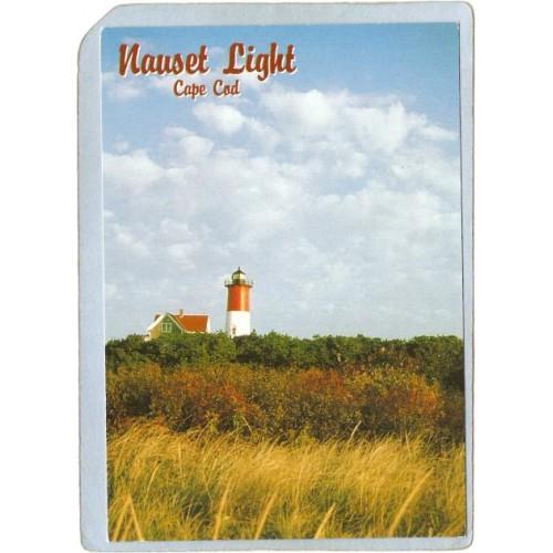 MA Eastham Lighthouse Postcard Nauset Light Cape Cod lighthouse_box1~528