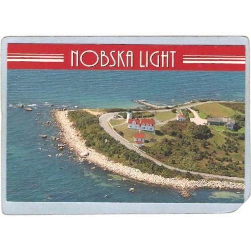 MA Falmouth Lighthouse Postcard Nobeska Light Cape Cod lighthouse_box1~533