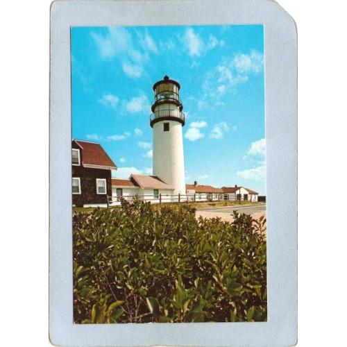 MA Truro Lighthouse Postcard Highland Light Cape Cod lighthouse_box1~563