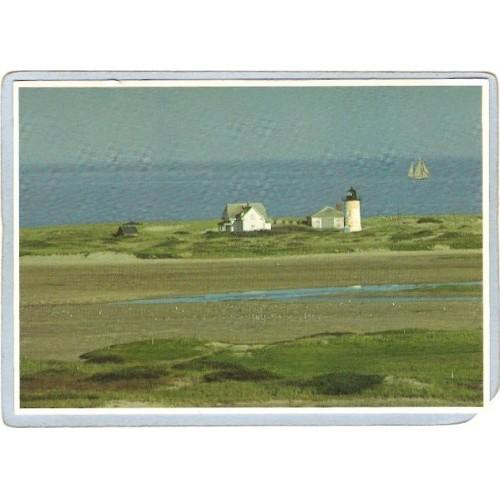 MA Provincetown Lighthouse Postcard Race Point Light Cape Cod lighthouse_b~583