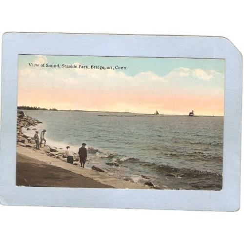 CT Bridgeport Lighthouse Postcard Lighthouse lighthouse_box1, ct_box1, ~62