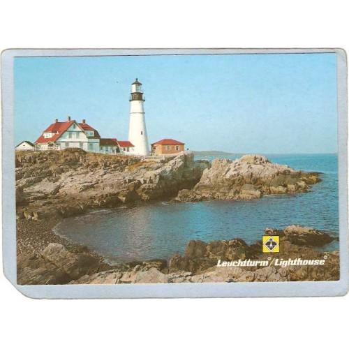 ME Portland Lighthouse Postcard Portland Head Lighthouse Foreign Printing ~647