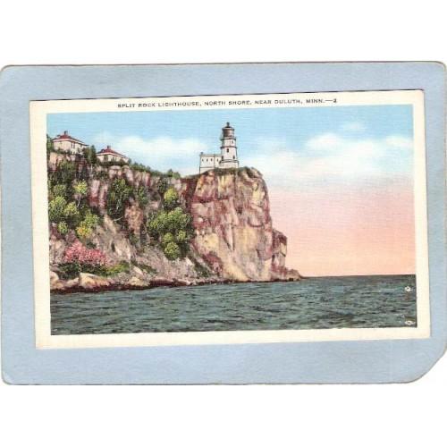 MN Duluth Lighthouse Postcard Split Rock Lighthouse North Shore lighthouse~655