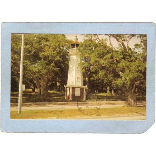MS Biloxi Lighthouse Postcard Baldwin Wood Lighthouse lighthouse_box2~667