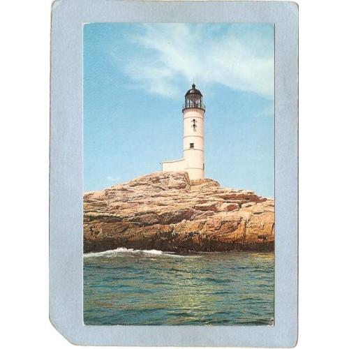 NH White Island Lighthouse Postcard Isles Of Shoals Light lighthouse_box2~690