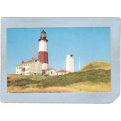 New York Montauk Point Lighthouse Postcard Montauk Point Lighthouse lighth~791