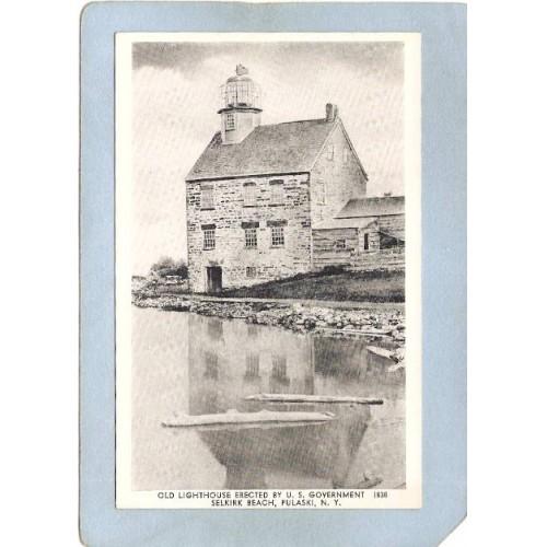 New York Pulaski Lighthouse Postcard Old Lighthouse Erected By U S Governm~802
