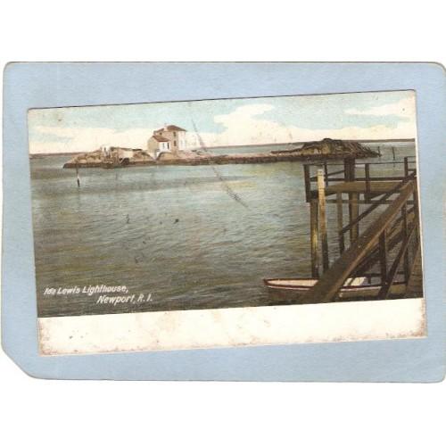 RI Newport Lighthouse Postcard Ida Lewis Lighthouse lighthouse_box2~918