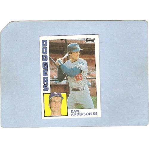 CA Los Angeles Sport Baseball 1984 Topps Dave Anderson LA Dodgers sport_bo~162