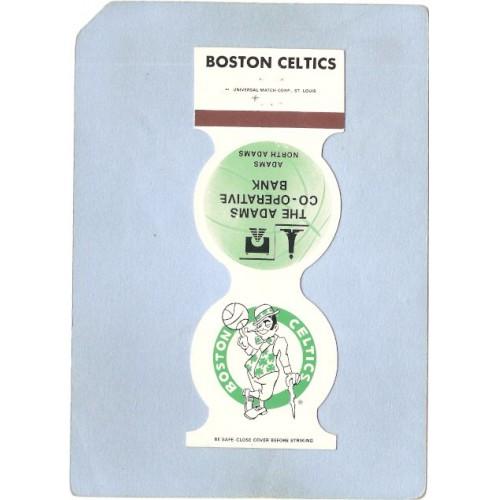 MA Boston Sport Basketball Contour Matchcover Boston Celtics 1986-87 Home ~290