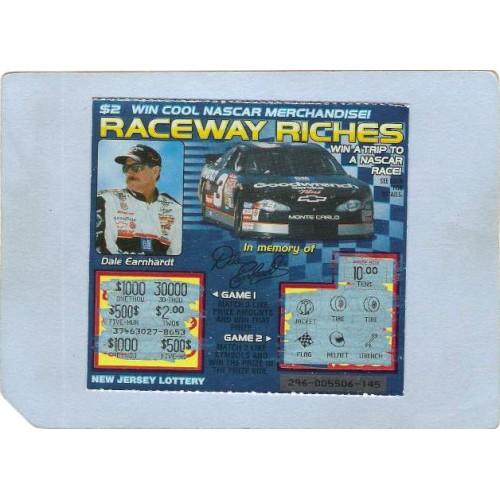 NJ Generic Sport Auto Racing New Jersey Instant Lottery Ticket Raceway Ric~363