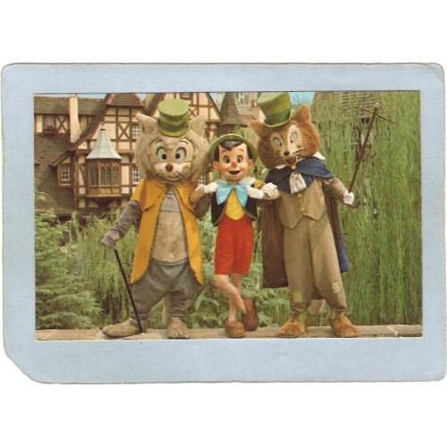 FL Orlando Amusement Park Postcard Walt Disney World Watch Out Pinocchio t~275