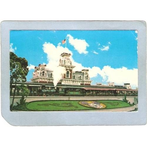 FL Orlando Amusement Park Postcard Walt Disney World Railroad top_box3~289