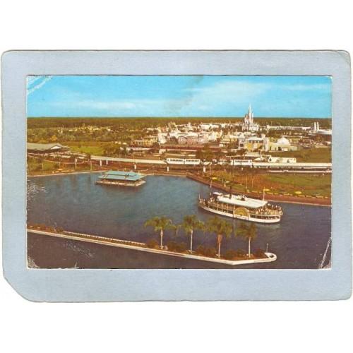 FL Orlando Amusement Park Postcard Walt Disney World The Magic KIngdom top~293