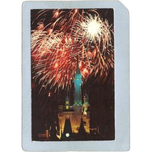 FL Orlando Amusement Park Postcard Walt Disney World Fantasy In The Sky Fi~302