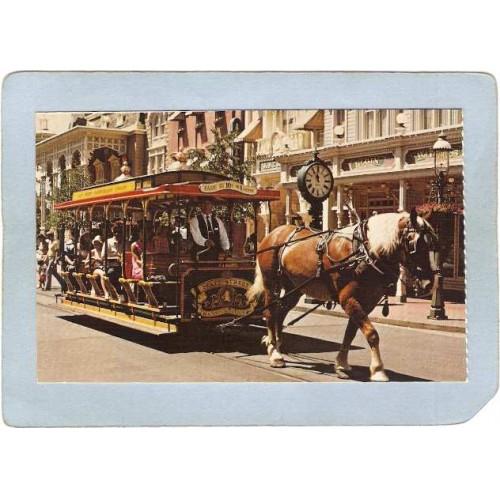 FL Orlando Amusement Park Postcard Walt Disney World Journey Down Main Str~316