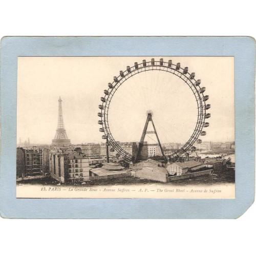 FRA Paris Amusement Park Postcard The Great Rheel Ferris Wheel top_box1~493