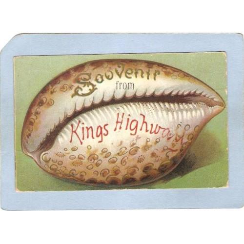 New York Brooklyn Shell/Shell Border Postcard Kings Highway, Brooklyn, New~1