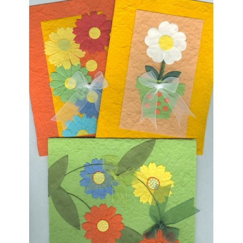 Greeting Cards Handcrafted Set of 3