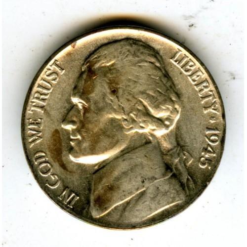 1945p Gembu Jefferson Nickel Multiple Lams RPM