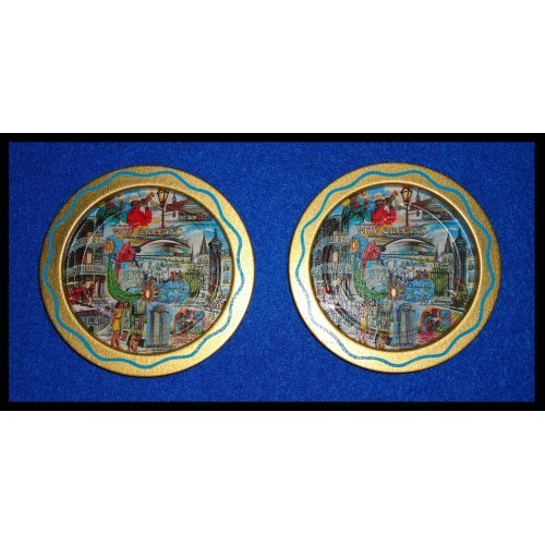 RARE FRENCH QUARTER SUPERDOME JAZZ ST LOUIS CATHEDRAL CAFE DU MONDE COASTERS
