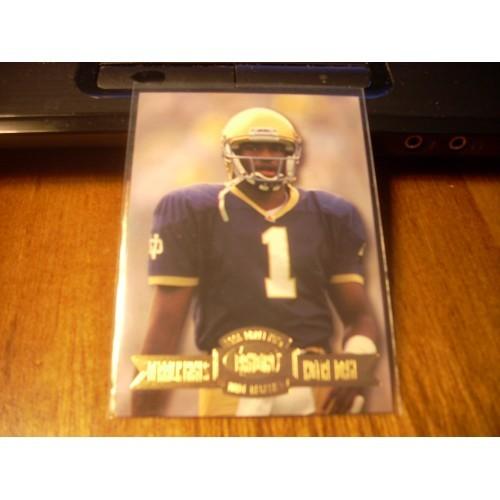 1996 Press Pass College Draft 50 Derrick Mayes Notre Dame