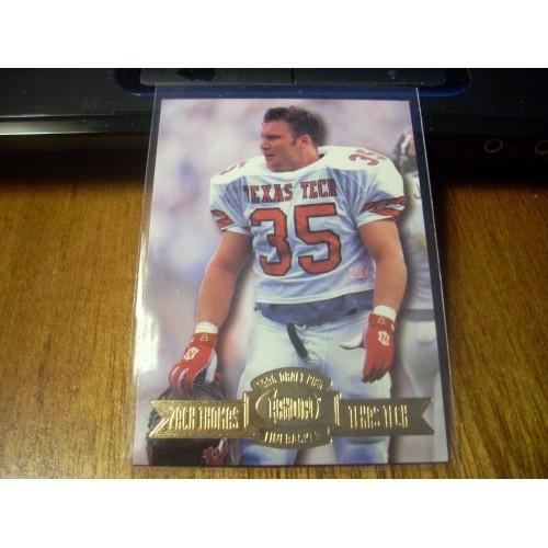 1996 Press Pass College NFL Draft 55 Zach Thomas Texas Tech Miami Dolphins