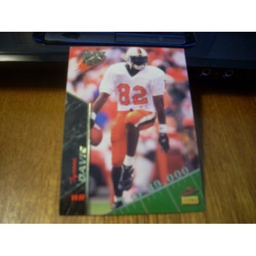 1995 Signiture Rookies NFL Draft 22 Tyrone Davis Virginia
