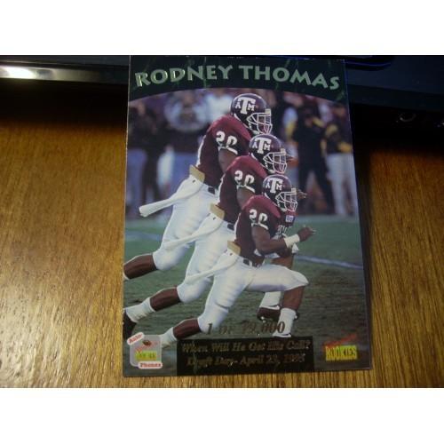 1995 Signiture Rookies Auto Phonex Draft 15 Rodney Thomas