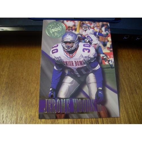 1996 Press Pass Premium Football NFL College Draft Card 32 Jerome Woods Memphis