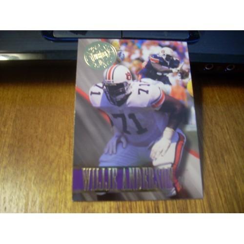 1996 Press Pass Premium NFL Draft College 42 Willie Andreson Auburn
