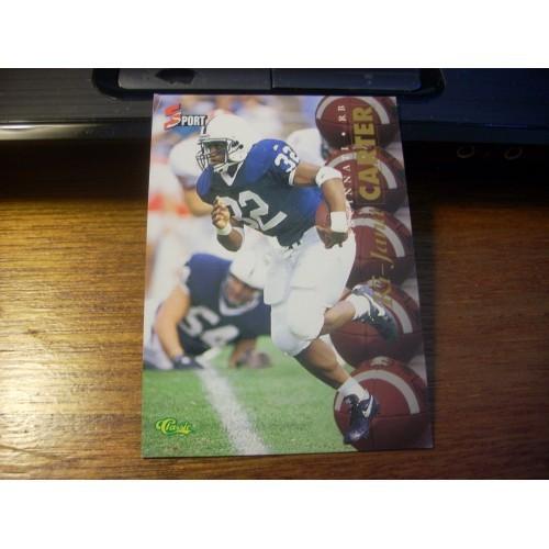 1995 Classic 5 Sport Draft NFL College Card 43 Ki Jana Carter Penn State