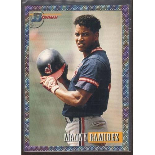 1993 Bowman # 365 Foil MANNY RAMIREZ Indians baseball