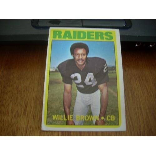 1972 Football Card 28 Willie Brown Grambling Raiders Outstanding HOF