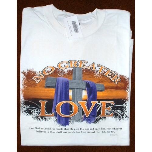 "T-Shirt - White - Sz XXL ""No Greater Love""  John 3:16"
