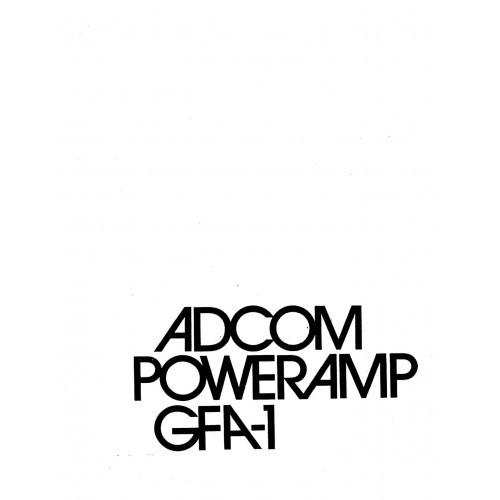 Adcom GFA-1 Amplifier Owners Manual