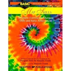 Basic Not Boring Map Skills Middle Grades Series 6-8