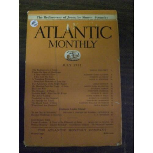 VINTAGE MAGAZINE: ATLANTIC MONTHLY ....  JULY 1931
