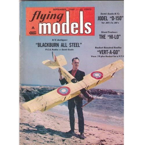 FLYING MODELS - vintage radio control magazine September 1969