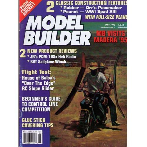 MODEL BUILDER - vintage radio control aviation magazine May 1996
