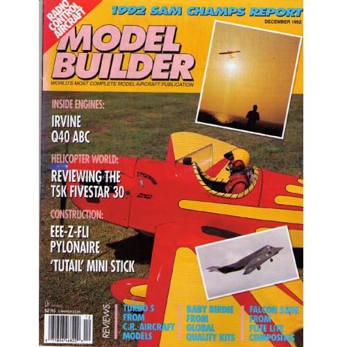 MODEL BUILDER - vintage radio control aviation magazine December 1992