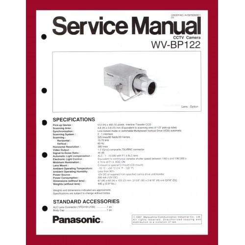 PANASONIC WV-BP122 CCTV CAMERA SERVICE MANUAL