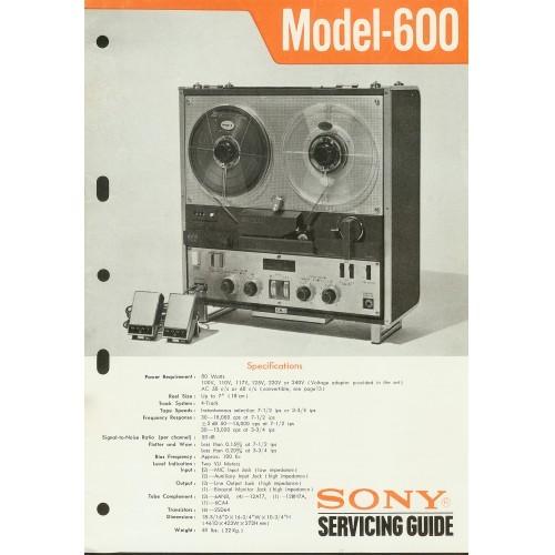 Sony Model 600 Reel - Service Manual