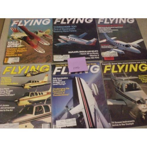 10 FLYING MAGAZINES LOT #170